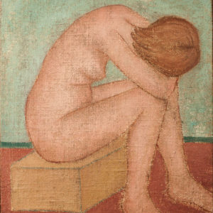 1955 Nudo seduto