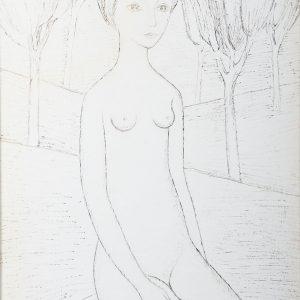 1952 Nudo con alberi Bv 17-13